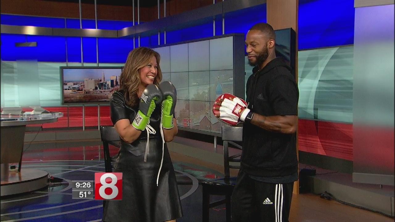 World Champion Boxer Chad Dawson shows News 8 some moves