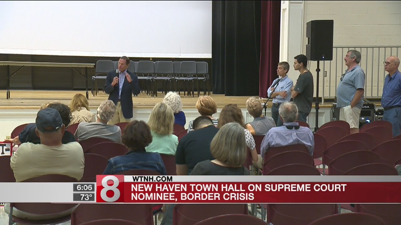 Blumenthal holds town hall on Supreme Court nominee, border crisis