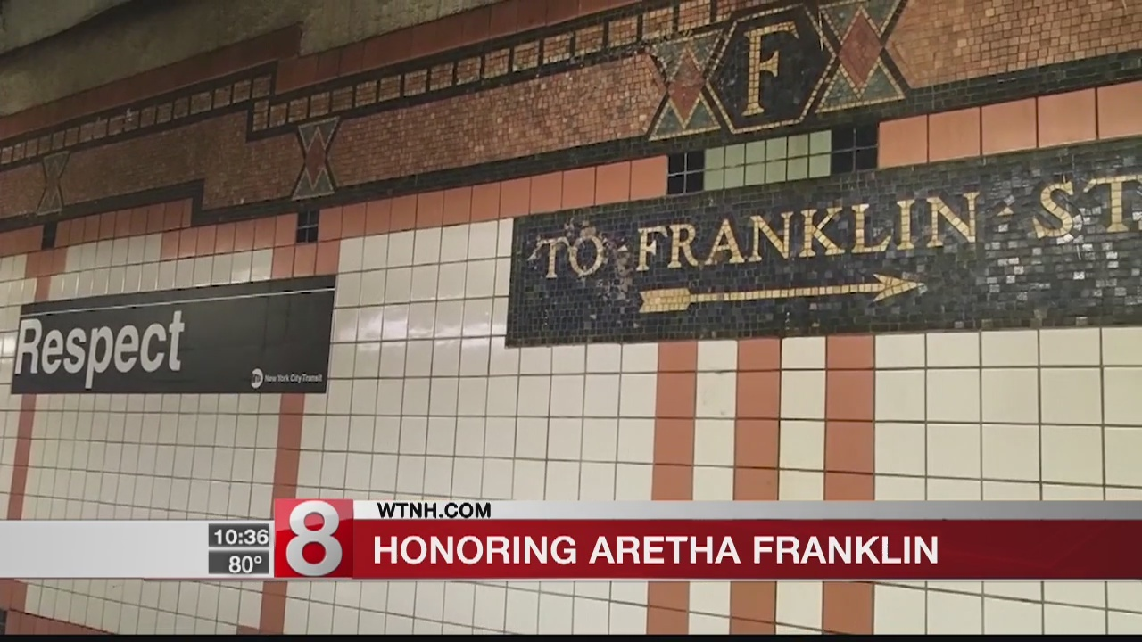 Aretha Franklin gets respect from the NYC subway