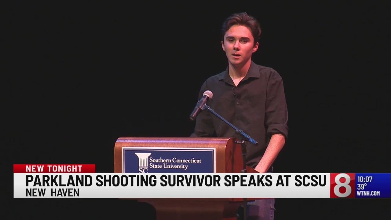 Parkland survivor speaks at Southern CT State University on gun violence