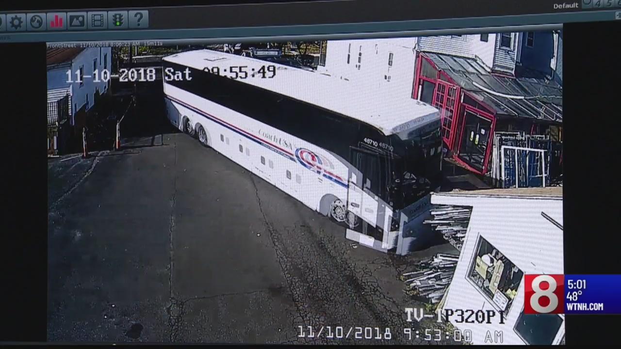 West Haven bus crash caught on camera