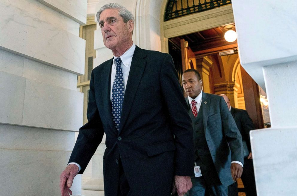 PHOTO_ Robert Mueller, the special counsel probing Russian interference in the 2016 election, departs Capitol Hill, June 21, 2017._6160079000532