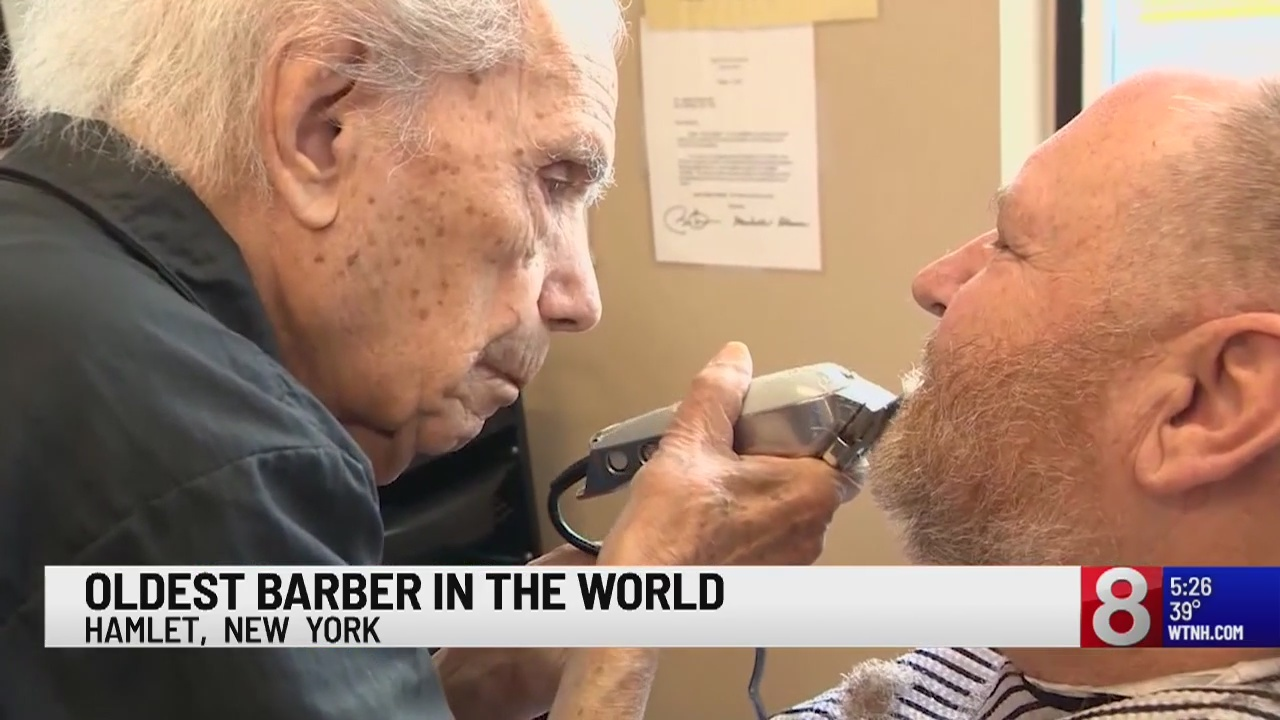 New York barber oldest in world at 107
