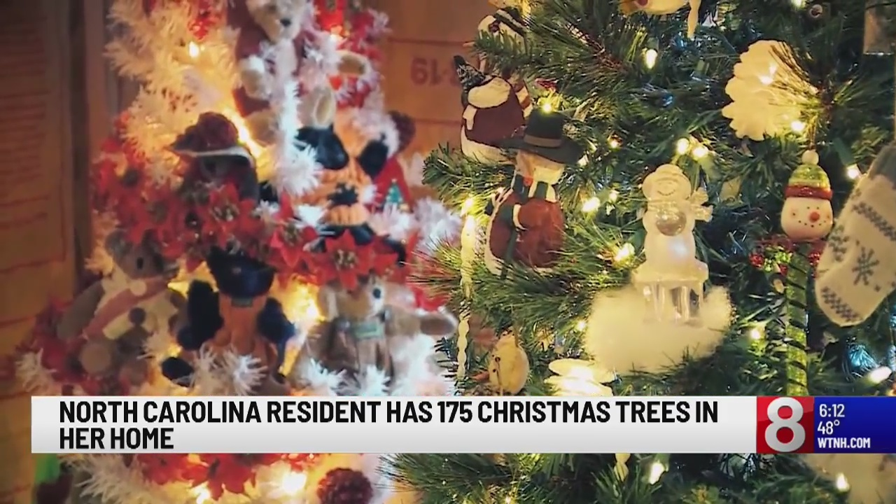 North Carolina woman has 175 Christmas trees in her home