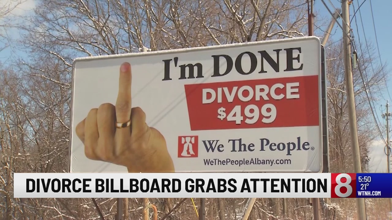 Divorce billboard grabs motorists' attention