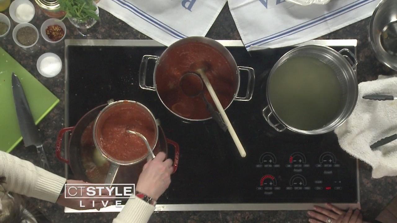 In The Kitchen: Chef Angela Baldanza cooks up classic pomodoro sauce