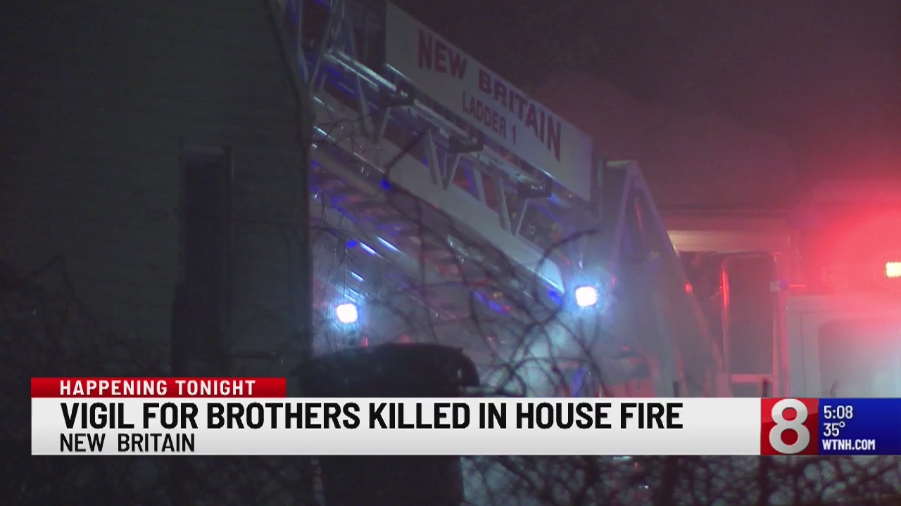 Vigil held for New Britain brothers killed in house fire