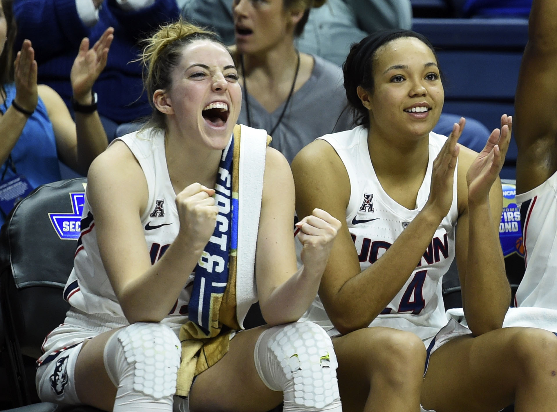 NCAA Towson UConn Basketball Samuelson Collier
