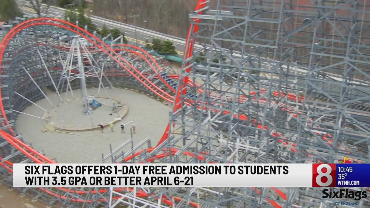 Students with 3 5 GPA or better can get free admission to Six Flags