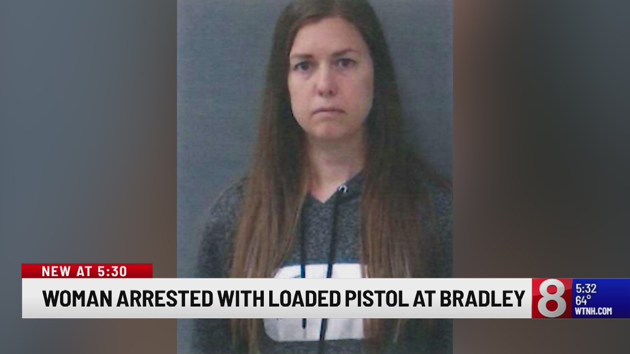 Woman arrested with loaded pistol at Bradley Airport