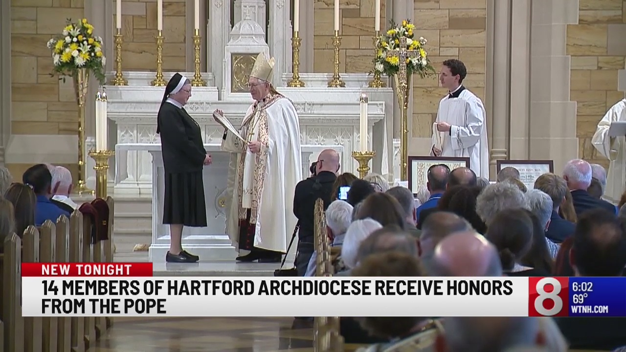 14 members of Hartford Archdiocese receive honors from the Pope