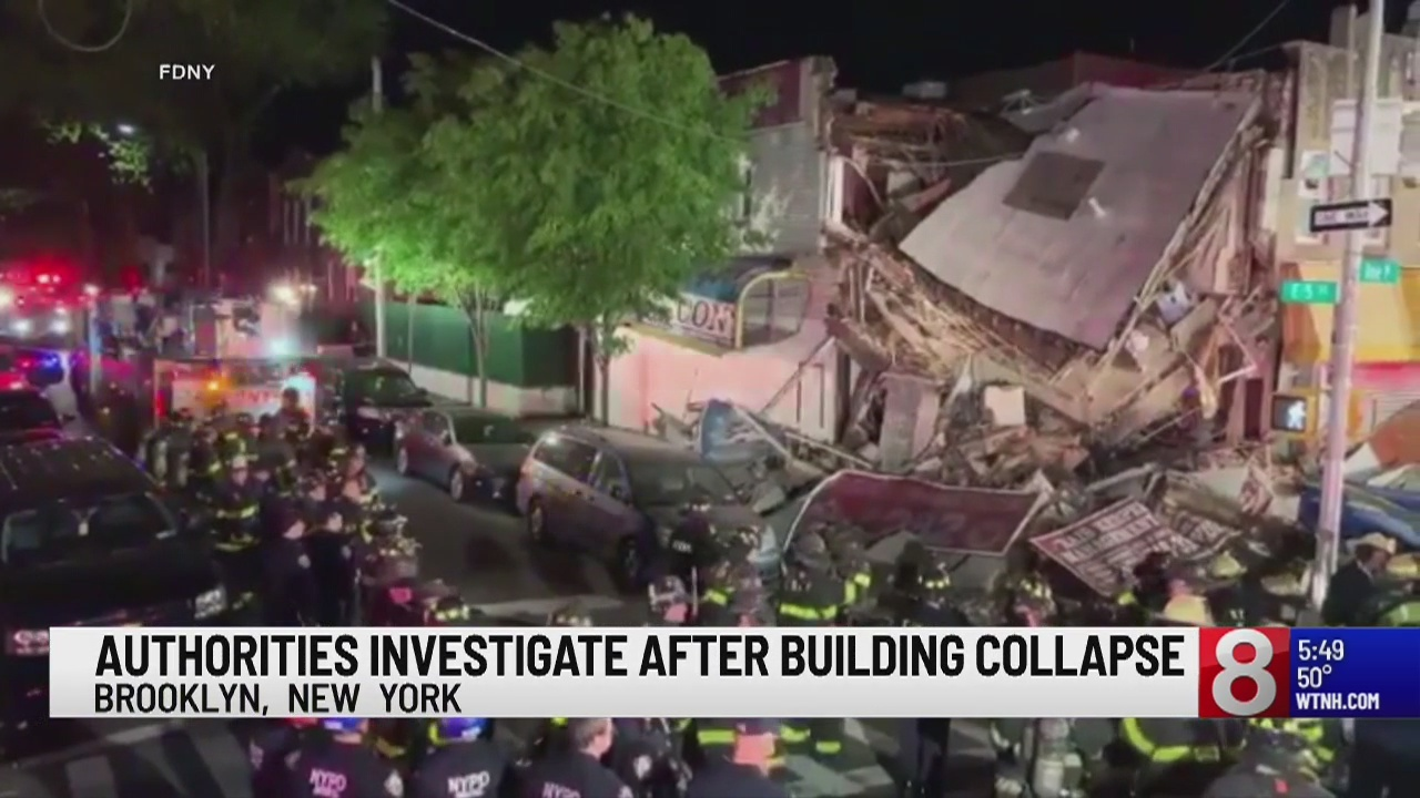 At least one hurt in New York building collapse: NYFD