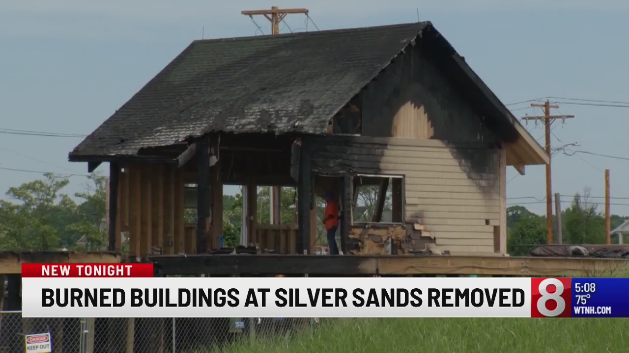 Burned buildings at Silver Sands State Park removed after massive fire