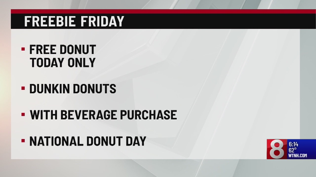 Freebie Friday: Free donuts, ice cream, tacos and CT attractions