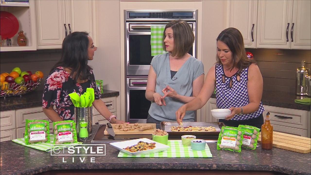In The Kitchen: Julie Kieras makes pizza using Al Fresco chicken sausage
