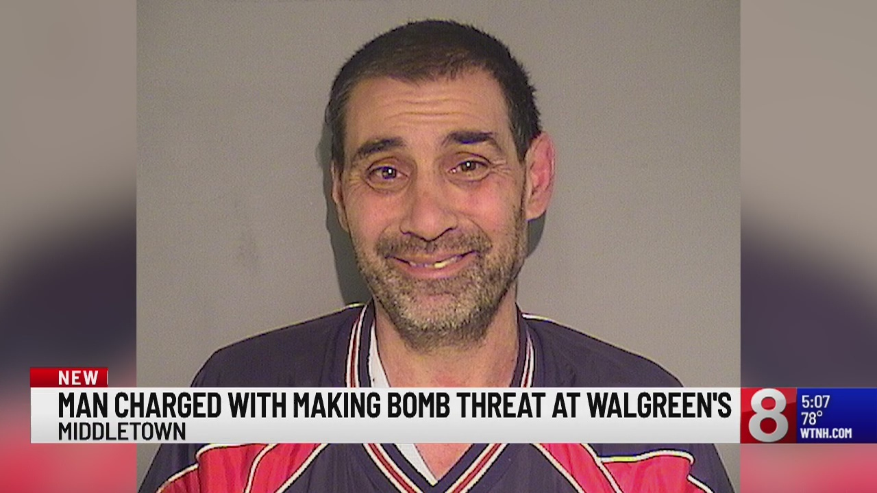 Middletown man charged with making bomb threat at Walgreen's
