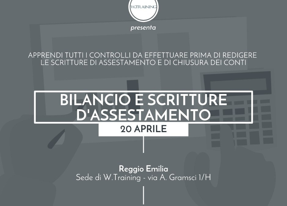 Bilancio e scritture d'assestamento