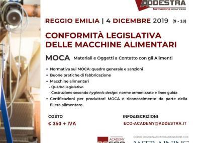 Conformità legislativa delle macchine alimentari – MOCA