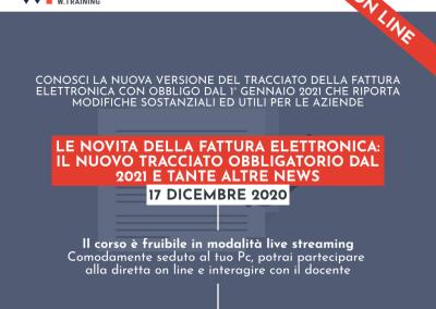 LE NOVITÀ DELLA FATTURA ELETTRONICA: IL NUOVO TRACCIATO OBBLIGATORIO DAL 2021 E TANTE ALTRE NEWS