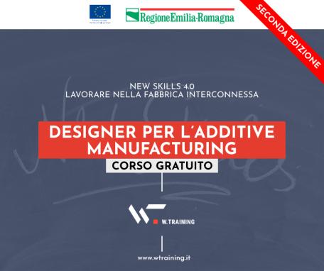 DESIGNER PER L'ADDITIVE MANUFACTURING – SECONDA EDIZIONE