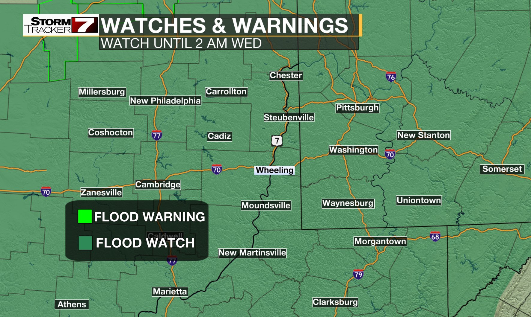 Severe weather may last overnight
