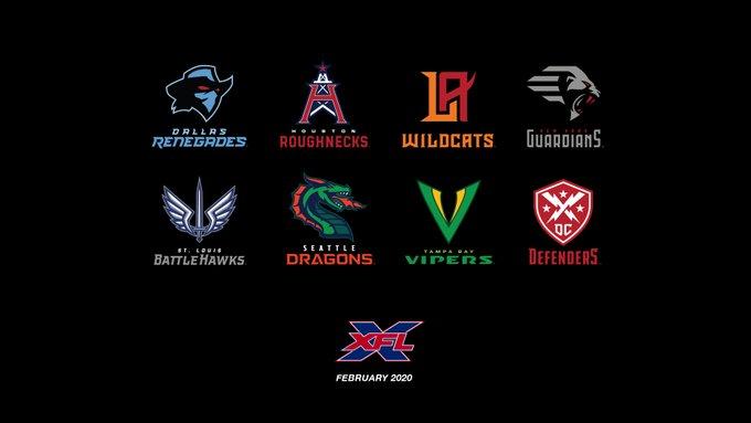 XFL announces team names and logos