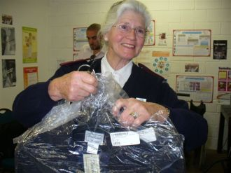 Uniforms donated to home based carers by Duchess - 25.09.09 007