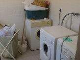 A view of the laundry