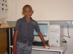Young Aaron Mphande of Teacher Hazel's Grade R class