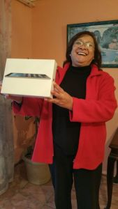 Suzette Keswardt, Winner of the first iPad