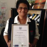 Congratulations to Veronica whose hard work with clients on ART (anti retro viral treatment) has been rewarded with a Gold Certificate from the Department of Health and City of Cape Town.
