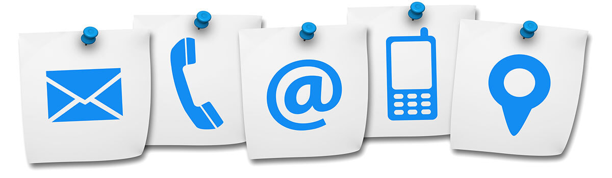 blue icons for customer contact page