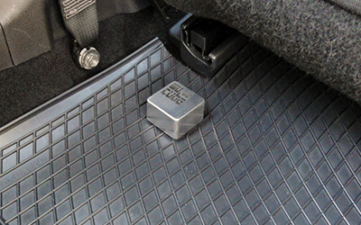 Wucube in rear passenger footwell