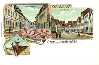 Heidingsfeld 1903: Storchennest