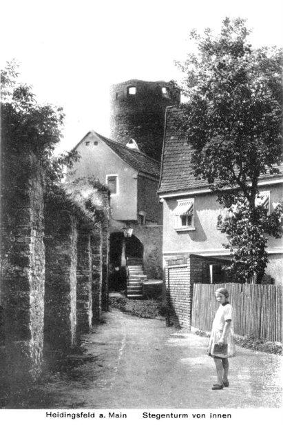 Der Stegenturm in Heidingsfeld 1931.