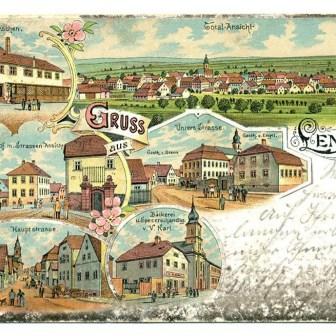 Historische Postkarte aus Lengfeld aus dem Jahr 1898.