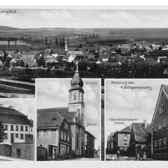 Historische Postkarte aus Lengfeld aus dem Jahr 1936.