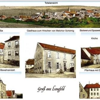 Historische Postkarte aus Lengfeld aus dem Jahr 1916.