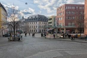 Der Barbarossaplatz in Würzburg