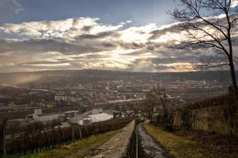 Blick auf Würzburg am 1. Februar