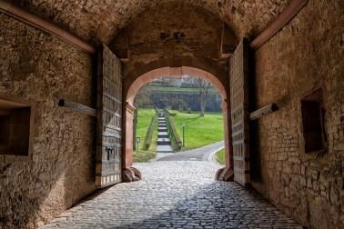 Blick aus dem Neutor an der Festung Marienberg.