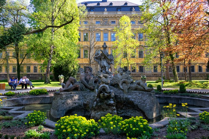 Frühling im Park vom Juliusspital