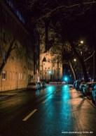 Nachts am Exerzierplatz im Stadtteil Sanderau.