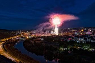 Kiliani-Eröffnungsfeuerwerk am 5. Juli 2019.