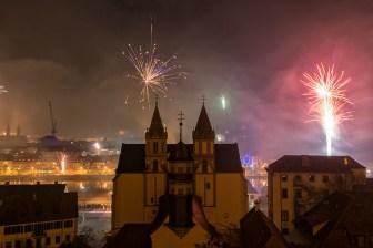 Silvester 2018 / 2019 in Würzburg.