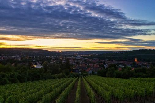 Sonnenuntergang am Katzenberg über Heidingsfeld