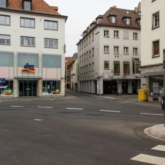 Blick in die Eichhornstraße aus der Spiegelstraße