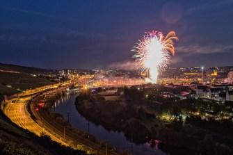 Großes Feuerwerk zur Eröffnung von Kiliani 2017.