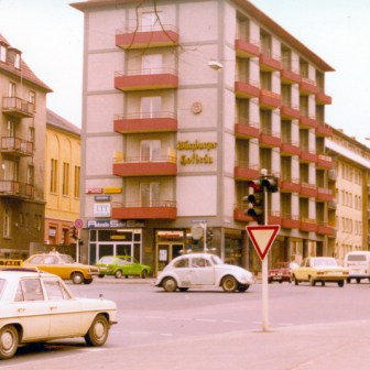 Rottendorfer Straße Ecke Friedrich-Ebert-Ring (sieht heute nahezu unverändert aus).
