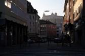 Nicht nur im Frühling bietet sich fast täglich dieser schöne Ausblick auf die Festung durch die Eichhornstraße